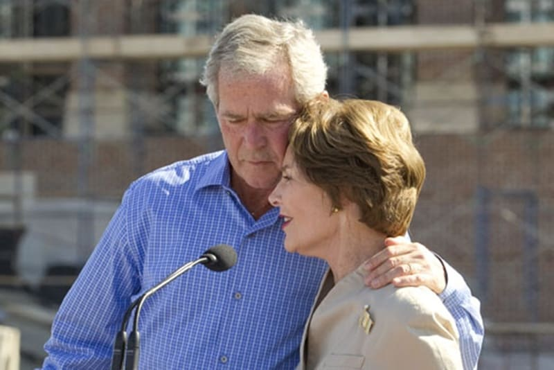 Suggest George w and laura bush refuse. final