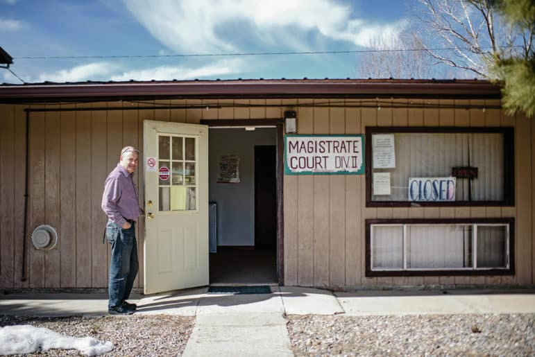 The Taos County Magistrate Court in Questa