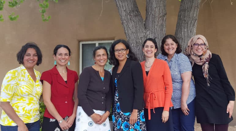 The Heart of Gender Justice research team. From Left: Lisa Cacari Stone, Antoinette Villamil, Sarah Ghiorse, Nancy López, Renee Villarreal, Claudia Díaz Fuentes, and Fatima van Hattum.