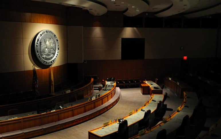 The Senate chambers at the Roundhouse in Santa Fe.